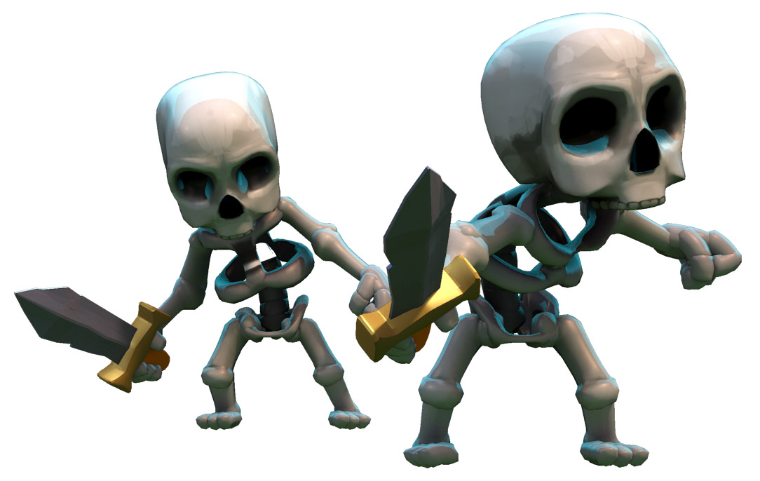 Clash of Clans | Witch | Skeletons | clash-wiki.com