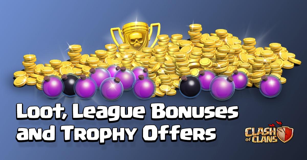 Добыча, бонусы лиг и распределение трофеев