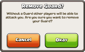 Guard Removal Message