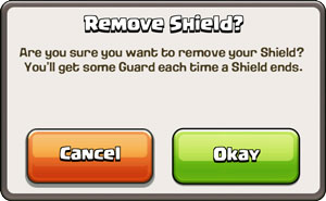 Shield Removal Message