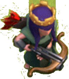 Королева Лучниц 10-19 уровня (вид в игре)