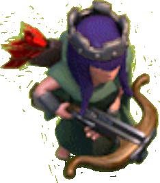 Королева Лучниц 1 и 2 уровня (вид в игре)