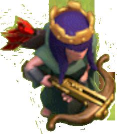 Королева Лучниц 20-40 уровня (вид в игре)