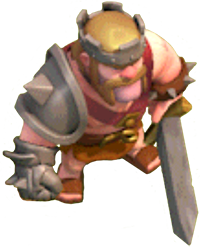 Король Варваров 1 и 2 уровня (вид в игре)