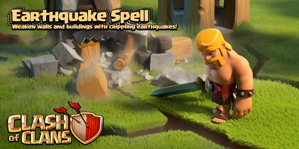 Earthquake Spell - Weaken walls and buildings with crippling earthquakes!