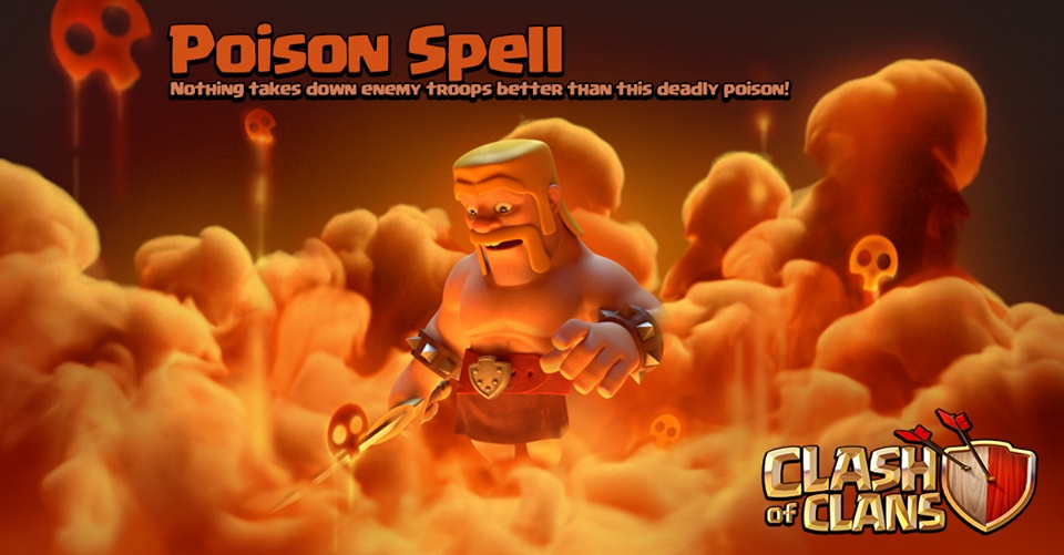 Poison Spell - Nothing takes down enemy troops better then this deadly poison!
