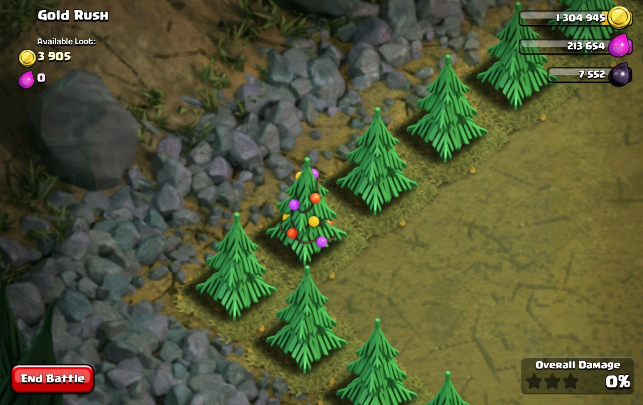 Clash of clans christmas tree gift