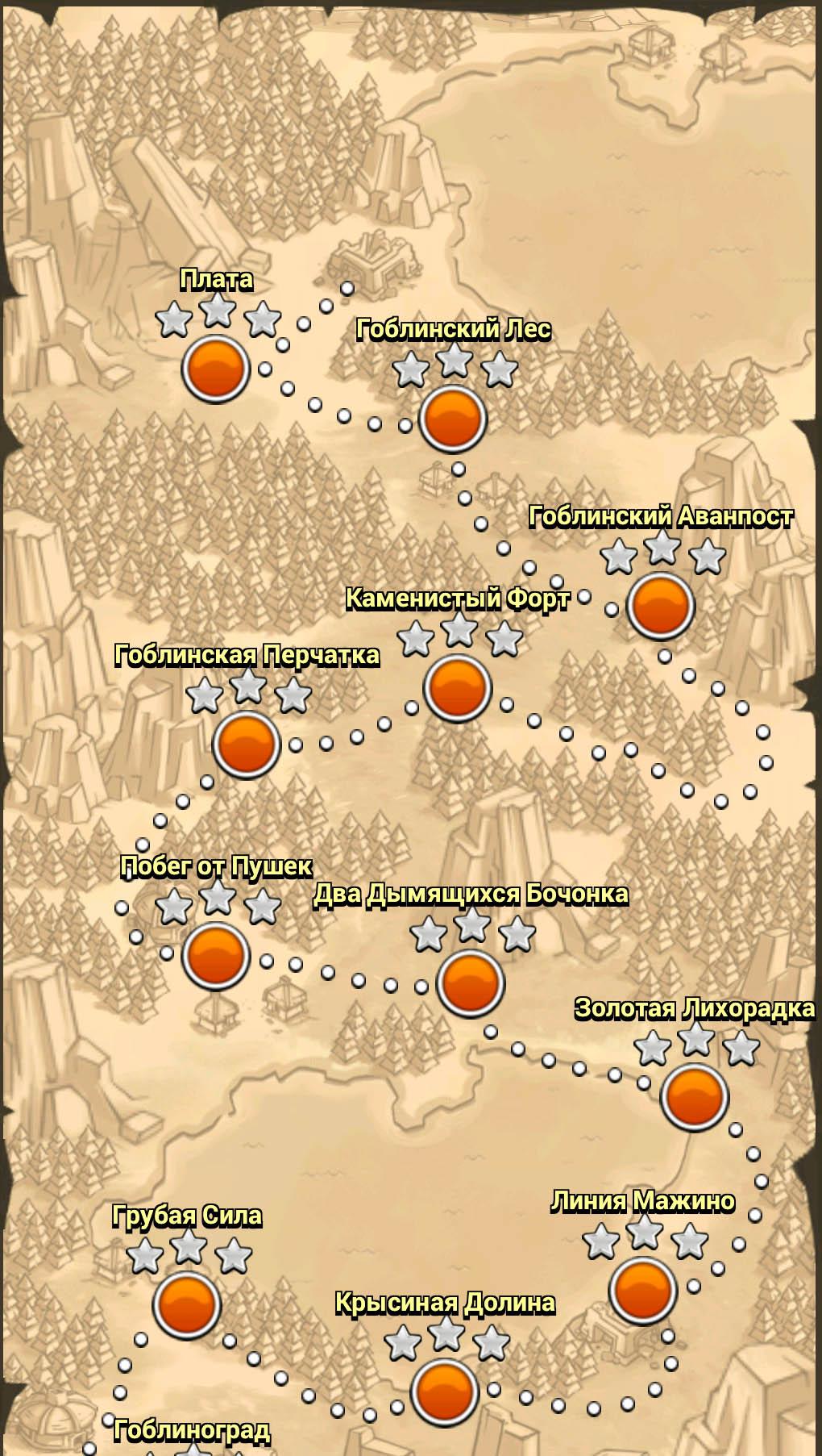 Карта одиночной кампании 1