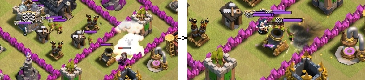 Clash of Clans Grouping Troops for Lightning Spell
