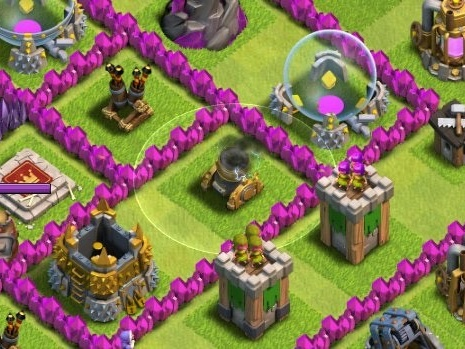 Clash of Clans Lightning Spell destroy Mortar Placement