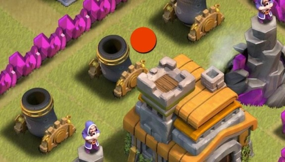 Clash of Clans Destroy 2 Mortars With Same Lightning Spell